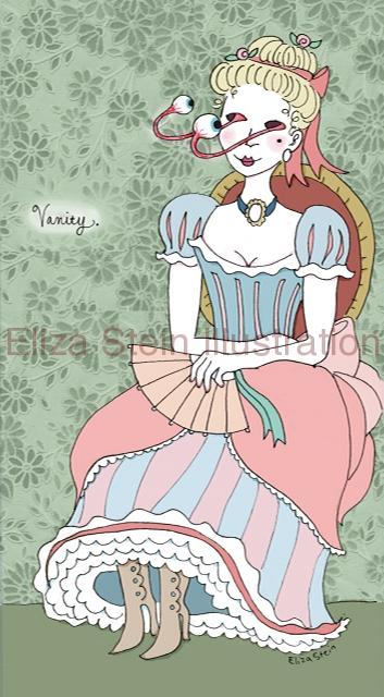 """Illustration Friday: """"Vanity"""" by Eliza Stein"""