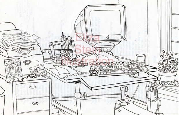 Portrait of My Desk by Eliza Stein