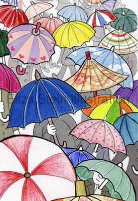 Eliza Stein Illustration Prepare for Rain umbrella sketch