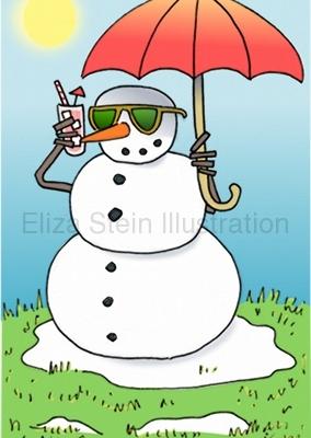 Snowman Illustration by Eliza Stein