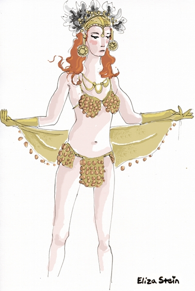 Belly Dancer Sketch by Eliza Stein Illustration