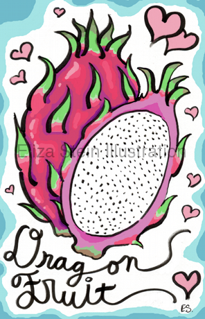 Dragon Fruit drawing by Eliza Stein Illustration