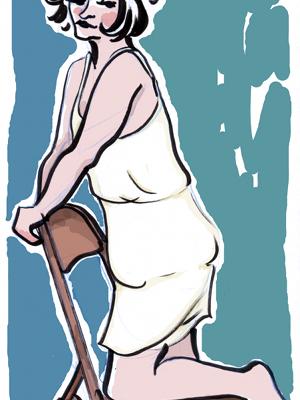 Flapper Girl Drawing by Eliza Stein