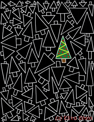 Eliza Stein Illustration Christmas Tree Design
