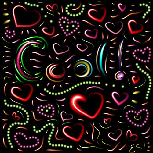 Neon Brush Art by Eliza Stein