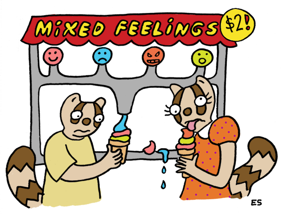 Mixed Feelings Illustration by Eliza Stein