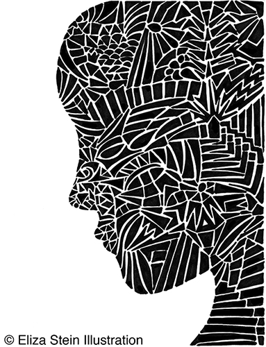 Fragmented Head Illustration by Eliza Stein