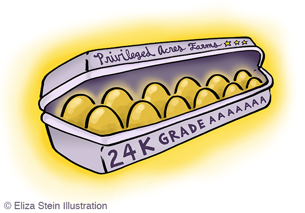 Golden Eggs Illustration by Eliza Stein