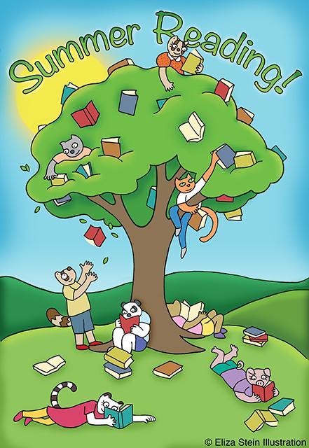 Summer Reading Illustration by Eliza Stein