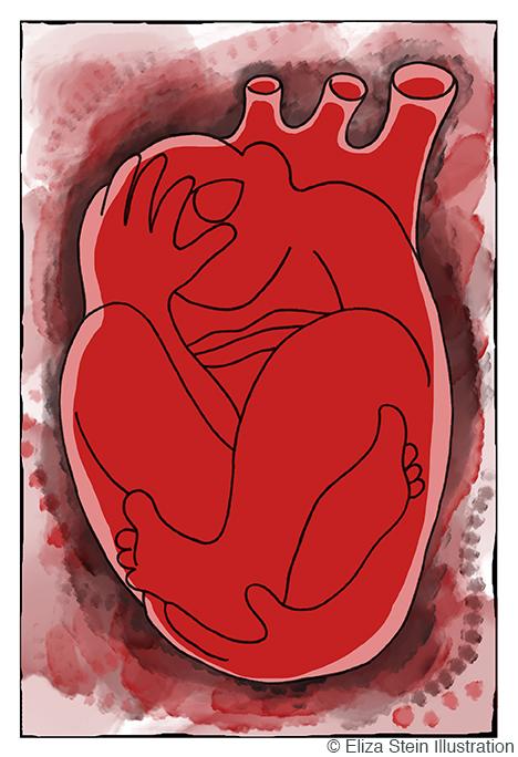 Heartache Illustration by Eliza Stein