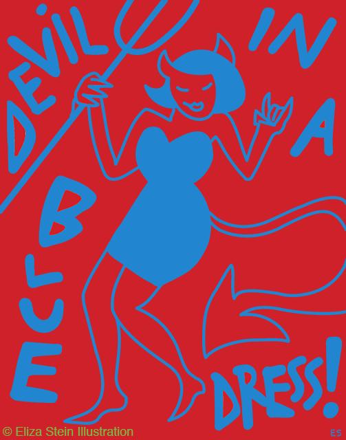 Devil In A Blue Dress Illustration